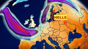 Mörköhelle-Foreca-sääkartta