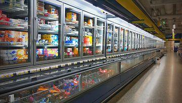 Jäätelö pakasteallas kauppa ruokakauppa
