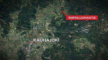 Kartta-Riipinluomantie-Kauhajoki