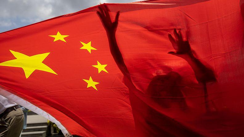 kiinan lippu kuvituskuva