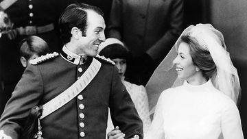 Prinsessa Anne ja Mark Phillips häät