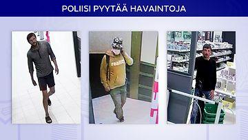 0607 poliisi etsii 3 ryöstäjää