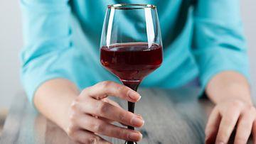viinilasillinen