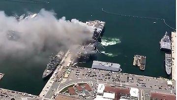 AOP, räjähdys, tulipalo, San Diego