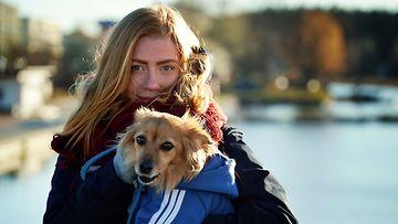 Tiia Virtasen ja Chrisin Andy-koira.