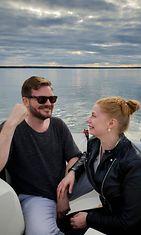 Tiia Virtanen ja hänen miesystävänsä Chris.