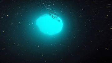 Amberjack Hole sininen aukko
