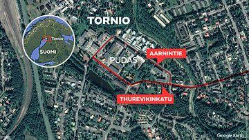 Tornio ampuminen kartta 4.8.2020