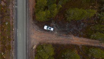shutterstock metsä pysäköinti auto