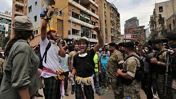 AOP, Beirut, mielenosoittajat, Beirutin räjähdys, Libanon