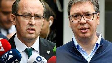 LK Kosovo Serbia Avdullah Hoti Aleksandar Vucic