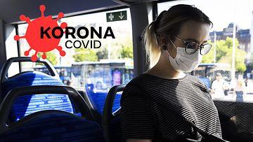 OMA: julkinen liikenne ja korona, kasvomaski