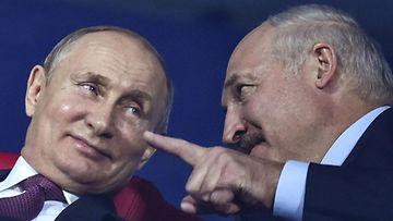 Lehtikuva: Lukashenka ja Putin, valko-venäjä, venäjä