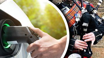 shutterstock sähköauto skotlanti