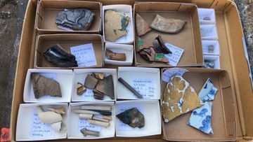 Senaatintori, arkeologiset kaivaukset, kaivauslöydöt