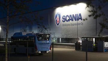 Scania Lahti kuvituskuva tehdas 21.9.2020