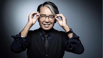 Japanilainen muotisuunnittelija Kenzo Takada.
