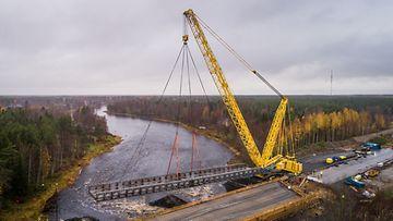 Havator Kiiminkijoen sillan nosto-21