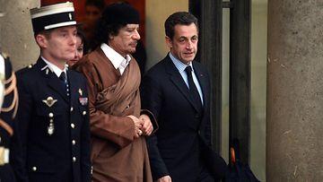 AOP Sarkozy ja Gaddafi Pariisissa 2007