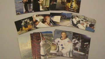 Apollo avaruusohjelma -keräilykortteja
