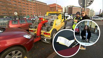 Näyttelijä Pirjo Heikkilä halusi tehdä lopun liian lähelle suojatietä pysäköintiin – näin pysäköinninvalvojien hinaajan matkaan lähti vaarallisesti pysäköity Peugeot (1)