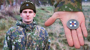 OMA: Varusmies palkittiin komentajan kolikolla