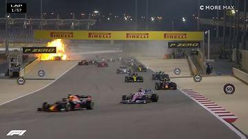 Romain Grosjean, Bahrain, liekit, startti, Haas 2020
