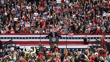 Donald Trump puhui Valdostan kaupungissa Georgiassa 5.12.2020 1