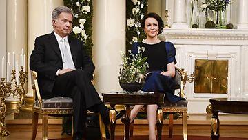 LK Presidentti Sauli Niinistö ja rouva Jenni Haukio.