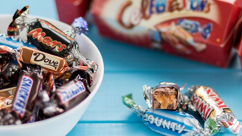 celebrations, suklaa, bounty, twix, mars