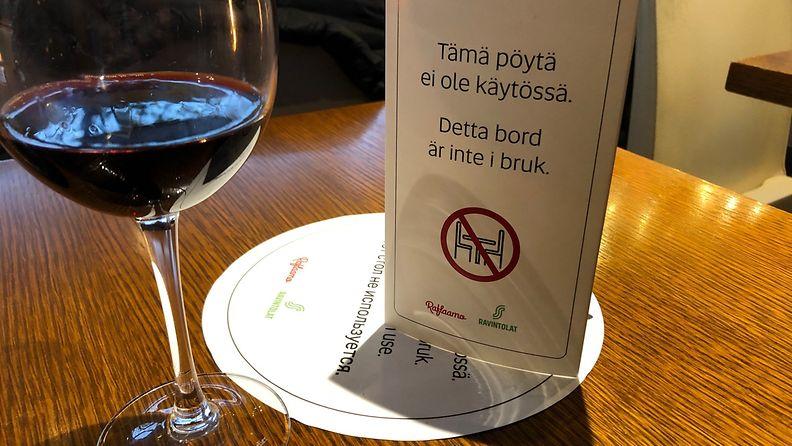 aop korona rajoitukset rajoitus ravintolat