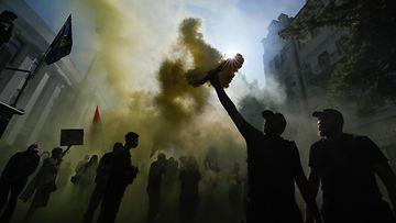 aop ukrainalaiset osoittavat mieltaan