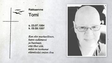 Arja Marjatsalo-Kyllästisen Tomi-poika kuoli vuonna 1997.