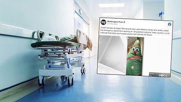 älä upota muihin juttuihin, koronatartunnat sairaalassa