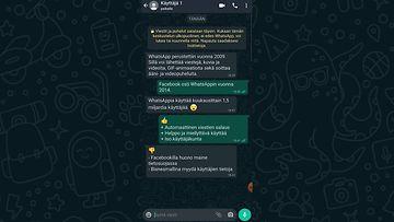 whatsapp vertailu