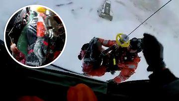 """Näin jäihin uponnut pelastettiin ilmasta käsin – pelastushelikopteri oli sattumalta lähistöllä: """"Normaalisti pelkkä helikopterin käynnistäminen ottaa sen ajan"""""""