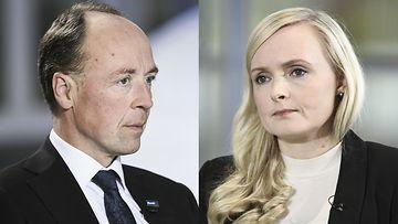Halla-aho ja Ohisalo OAJ:n kuntavaalitentti