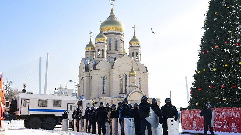 3101 LEHTIKUVA - Vladivostok mielenosoitus