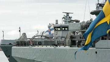LK 5.2.2021 Ruotsin armeijan laiva lippu