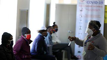 Etelä-Afrikka koronavirus testaus AOP 0702