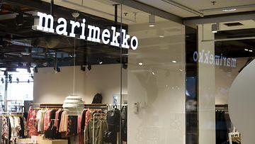 LK 18.2.2021 Marimekon liike kauppakeskus Forumissa Helsingissä 17. elokuuta 2020.