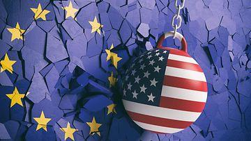 EU Yhdysvallat lippu aop
