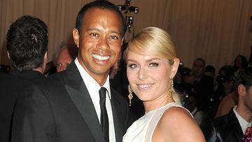 Tiger Woods ja Lindsey Vonn 2013