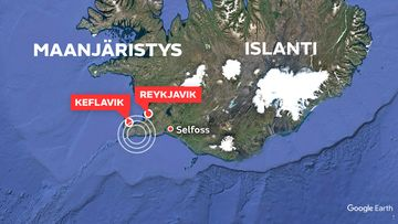 Islanti maanjäristys Keflavik - Reykjavik