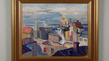 toven maalaus Tove Jansson katajanokalla