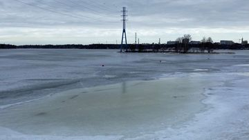 Jäätilanne, ranta, Espoo, Haukilahti