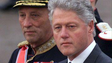 Kuningas Harald ja Bill Clinton 1999