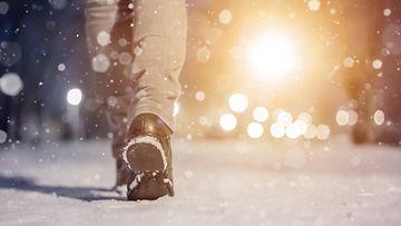 shutterstock kävely ulkona talvella