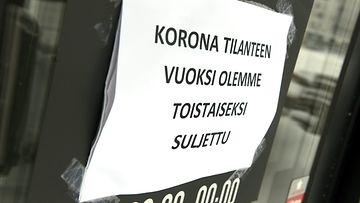 LK 10.3.2021 ravintola korona suljettu