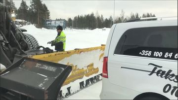 Motitettu taksi Ivalon lentokentällä